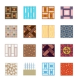Floor materials flat icons tiles vector image vector image