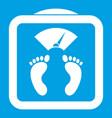 floor scales icon white vector image vector image