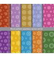 floral pattern seamless set design for wallpaper vector image vector image
