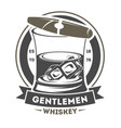 gentleman vintage label with cigar vector image vector image