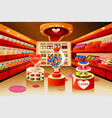 grocery store candy section vector image