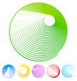 grunge circle set - colorful circles vector image vector image