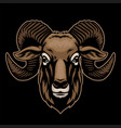 hand drawing goat head vector image
