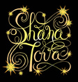 Hand drawn signature for Rosh Hashanah Jewish New vector image vector image