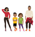 happy black family in sport style vector image vector image