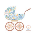 icons of products for babies in the form