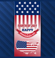 independence day background with us flag vector image