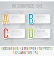 infographics font set vector image