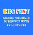 kids font vector image vector image