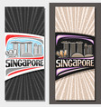 layouts for singapore vector image vector image