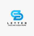 logo abstract letter s gradient colorful vector image vector image