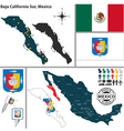 Map of Baja California Sur