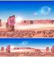Martian landscape vector image
