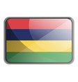 mauritius flag on white background vector image vector image