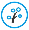 medical technology tree rounded icon vector image vector image