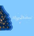merry christmasgolden glitter snowflakes on dark vector image vector image