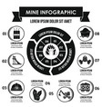 mine infographic concept simple style vector image vector image