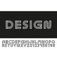 modern designer linear font trendy english vector image vector image