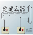 Money CurrencyElectric Line Business Infographic vector image vector image