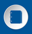notebook with pencil - blue icon on white button vector image