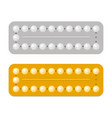 packagings birth control and hormonal vector image vector image