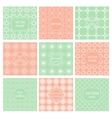 Pattern seamless tiled ornament geometric frame vector image vector image