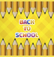 pattern yellow pencil and colored text back to vector image vector image