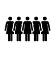 people icon group of women person team symbol sign vector image