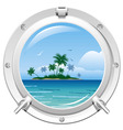 Porthole with sea view vector | Price: 1 Credit (USD $1)