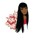 Pretty young african american woman vector image vector image