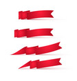 red ribbons banners vector image vector image