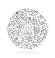round design element with office icons vector image vector image