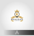 royal place logo template - stylish place logo vector image