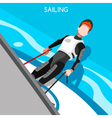 Sailing Race 2016 Summer Games Isometric 3D vector image vector image