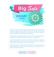 sale discount offer spring promo banner vector image