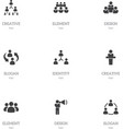 set of 9 editable community icons includes vector image vector image