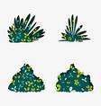 set of bushes vector image