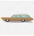 Station wagon - cartoon car vector image vector image