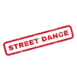 Street Dance Rubber Stamp vector image vector image
