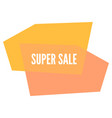 super sale sticker with abstract geometric forms vector image