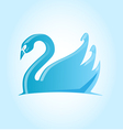 swan project blue vector image vector image