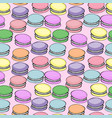 sweet delicious watercolor pattern with macarons vector image