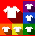 t-shirt sign set of icons vector image vector image