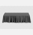 table with tablecloth black vector image vector image