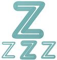 Teal line z logo design set vector image vector image