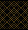tile pattern with golden ornament frame on black vector image