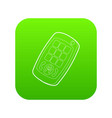 toy mobile phone icon green vector image