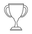 trophy cup symbol vector image
