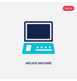 two color arcade machine icon from entertainment vector image vector image