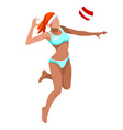 Volleyball Beach 2016 Sports 3D vector image vector image
